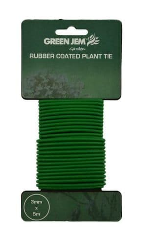 Garden Plant tie soft rubber cable Plants Twine Support Greenhouse 5M x 3mm
